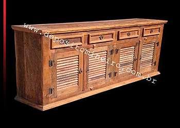 Deck de madeira de demolição