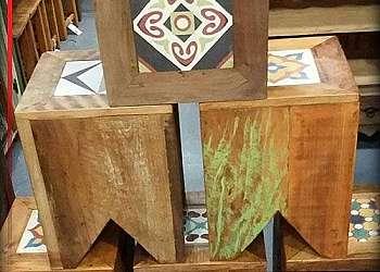 Deck de madeira área externa
